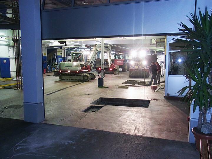 Aushubarbeiten für den neuen Bremsenprüfstand